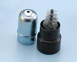 Metal Case Battery Brush